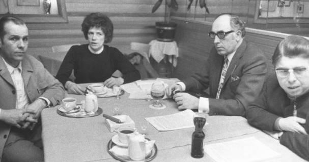 ARH Slg. Bartling 627, Diskussionsrunde mit Friedrich Rohde, Erika Künnecke, Fritz Steinbacher und Edfried Bühler, 1972