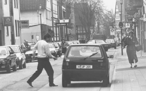 ARH Slg. Bartling 638, Mittelstraße mit Kfz-Verkehr, nach 1983