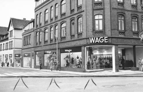 ARH Slg. Bartling 706, Marktstraße 18, Textilien-Fachgeschäft August Wage, 1973