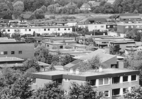 ARH Slg. Bartling 833, Silbernkamp, Blick über die Dächer vom Krankenhaus nach Nordosten, Neustadt a. Rbge., um 1980