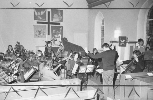 ARH Slg. Bartling 1728, Jugendkonzert in der Johanneskirche, Otternhagen, 1974