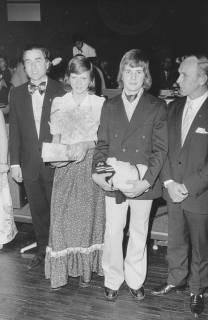 ARH Slg. Bartling 1913, Ehrung von vier Mitgliedern des TSV als Sportler des Jahres (Eugen Sühlo, Corinna Strasser, Jürgen Winkler, Kurt Rohde, Neustadt a. Rbge., 1974
