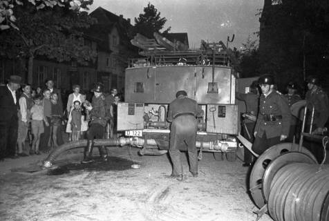 ARH Slg. Fritsche 50, Feuerwehrübung, Burgdorf, vor 1956