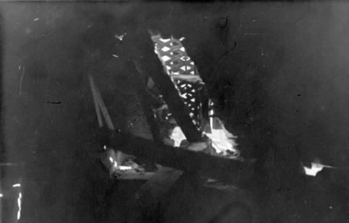 ARH Slg. Janthor 0009, Brandschaden im Gebälk der Marktkirche, Hannover, 1943