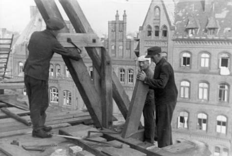 ARH Slg. Janthor 0028, Wiederaufbau der Marktkirche, Hannover, 1947