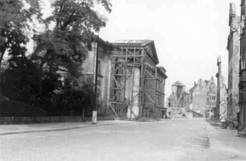 ARH Slg. Janthor 0037, Leinstraße am Kriegsende, Hannover, 1945
