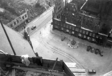 ARH Slg. Janthor 0176, Blick von der Marktkirche, Hannover, 1949
