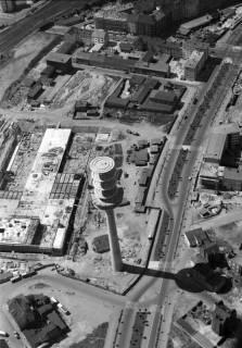 ARH NL Koberg 3, Fernmeldeturm und Paketpostamt im Bau, 1959