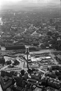ARH NL Koberg 4, Fernmeldeturm und Paketpostamt im Bau, 1959