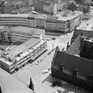 ARH NL Koberg 13, Blick von der Marktkirche auf die Marktstraße, 1962