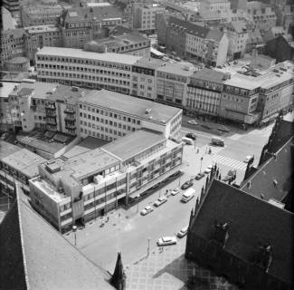 ARH NL Koberg 17, Blick von der Marktkirche auf die Marktstraße, 1962