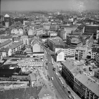ARH NL Koberg 19, Blick von der Marktkirche auf die Schmiedestraße, 1962